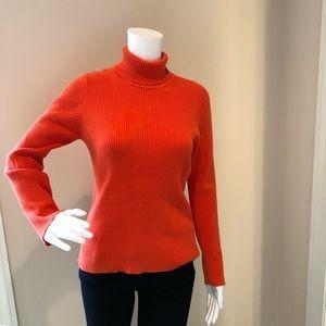 Orange Turtleneck Sweater
